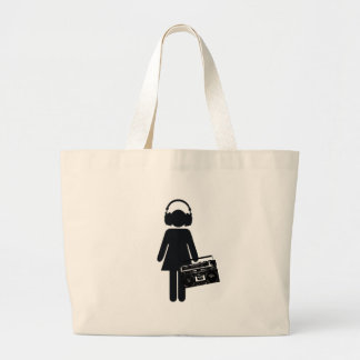 Music Lover Large Tote Bag
