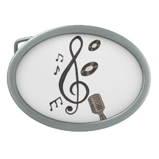 Music Lover Oval Belt Buckle