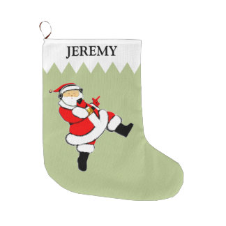 music-lover personalized holiday gift large christmas stocking