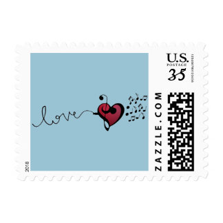 Music Lover Postage Stamp