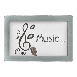 Music Lover Rectangular Belt Buckle