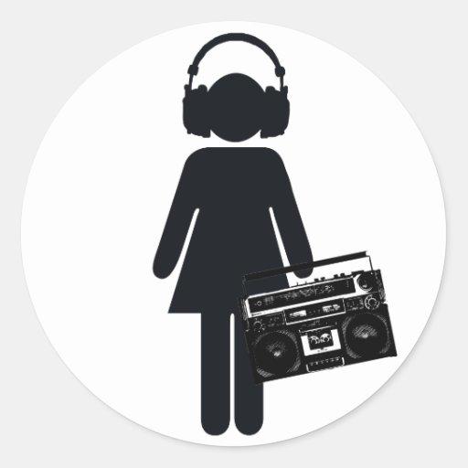 Music Lover Round Stickers