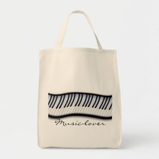 MUSIC-LOVER Theme Piano-player Gift Tote