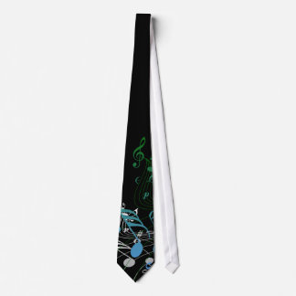 Music Lover Vector Art Neck Tie