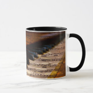Music Lover | Vintage Musical Notes Piano Keys Mug