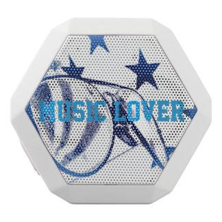 Music Lover White Bluetooth Speaker
