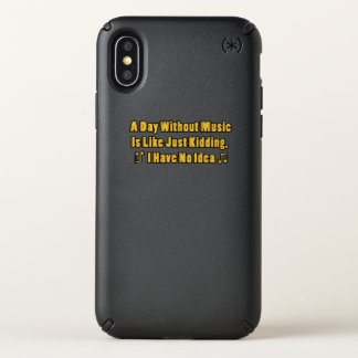 Music lovers A Day Without Music Speck iPhone X Case