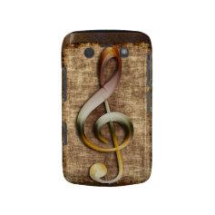 Music-lover's Antique Treble Clef Blackberry Case