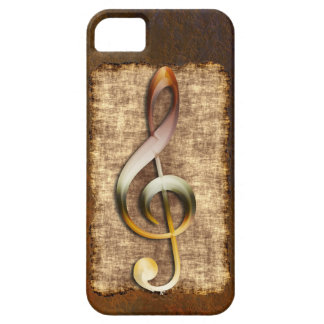 Music-lover's Antique Treble Clef iPhone 5 Case