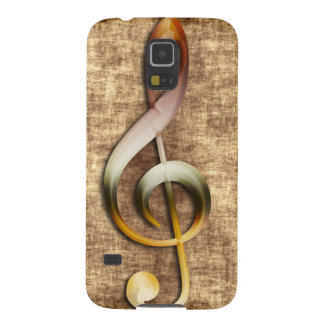 Music-lover's Antique Treble Clef Samsung Case