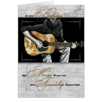 Music Lover's Birthday - Classic Guitarist Card