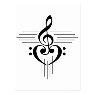 Music Lovers Custom Symbol Products Post Cards