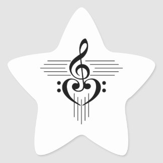 Music Lovers Custom Symbol Products Star Sticker