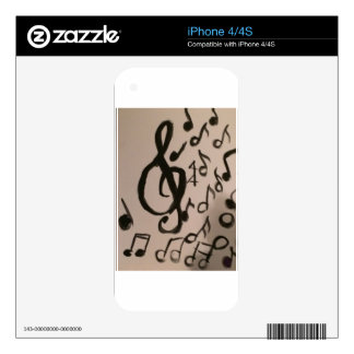 Music Lovers Delight iPhone 4 Skin