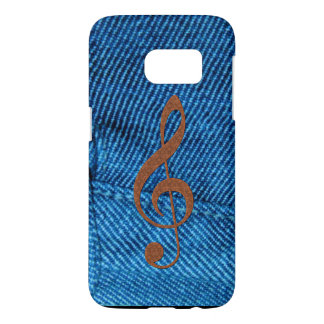 Music-lovers Denim-look Treble Cleff Samsung Case