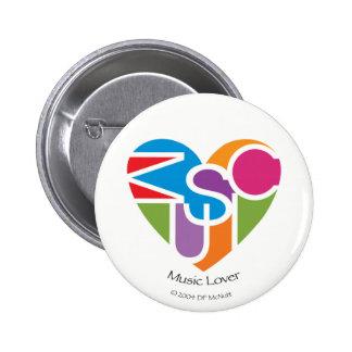 Music Lover's Heart® Button