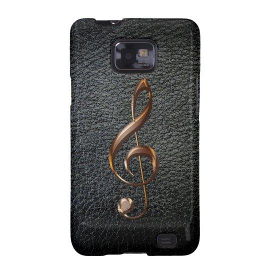 Music-lover's Metallic Treble Cleff Phone Case