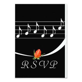 "Music Lover's RSVP Card 3.5"" X 5"" Invitation Card"