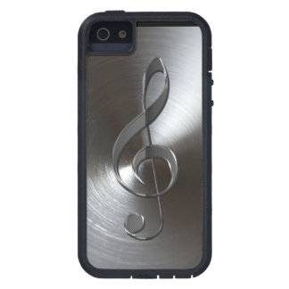 Music-lover's Silver Treble Clef iPhone 5 Case