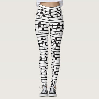 Music Lovers Style Fashion Musical Notes Musicians Leggings