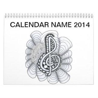 Music Lovers Treble Clef Design Calendar