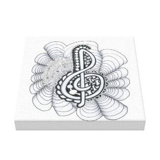 Music Lovers Treble Clef Design Canvas Print