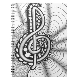 Music Lovers Treble Clef Design Notebook