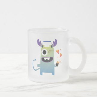 music lovin monster dude 10 oz frosted glass coffee mug