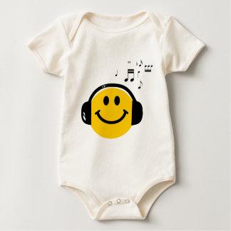 Music loving smiley baby bodysuit