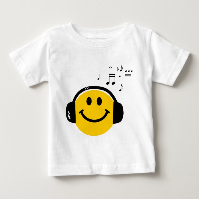 Music loving smiley baby T-Shirt