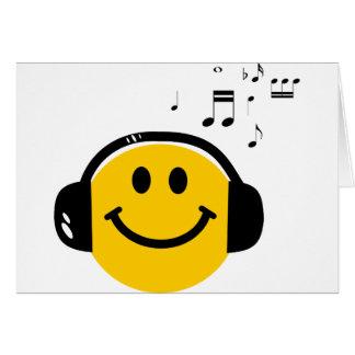 Music loving smiley greeting card