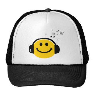 Music loving smiley trucker hat