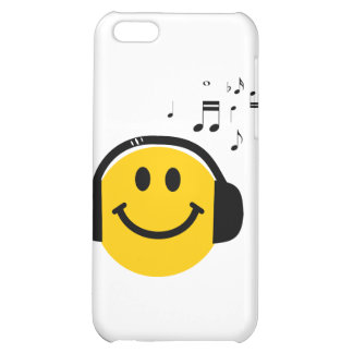 Music loving smiley iPhone 5C covers