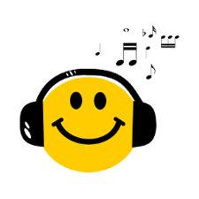 Music loving smiley postcards