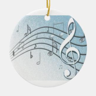 Music Lyrics Christmas Tree Ornaments