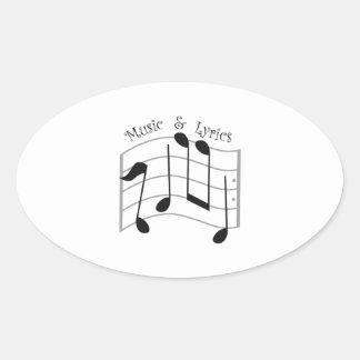 Music & Lyrics Oval Sticker