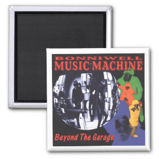 Music Machine: Beyond the garage 2 Inch Square Magnet
