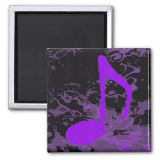 Music Madness Purple Note Magnet