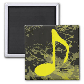 Music Madness Yellow Note Magnet