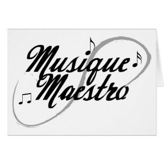 Music Maestro Greeting Card all Occassion