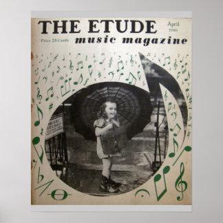 "Music Magazine ""The Etude"" April 1940 Poster"
