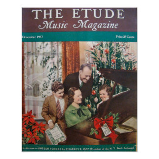 "Music Magazine ""The Etude"" December 1937 Poster"
