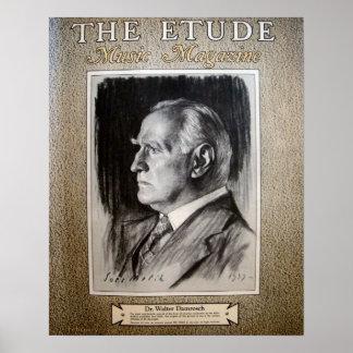 "Music Magazine ""The Etude"" February 1938 Poster"