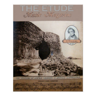 """Music Magazine """"The Etude"""" Fingall's Cave edition Poster"""