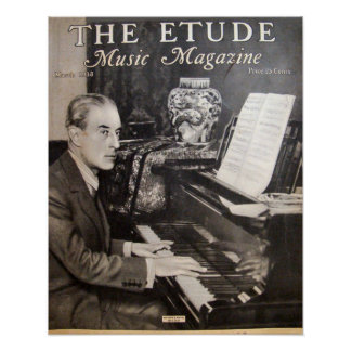 """Music Magazine """"The Etude"""" March 1938 Poster"""