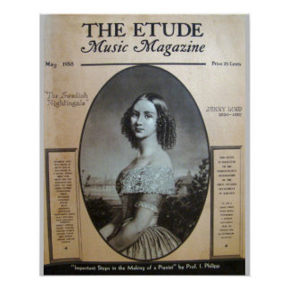"""Music Magazine """"The Etude"""" May 1938 Poster"""