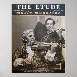 "Music Magazine ""The Etude"" November 1939 Poster"