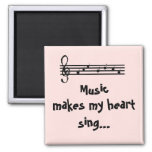 Music -magnet 2 inch square magnet