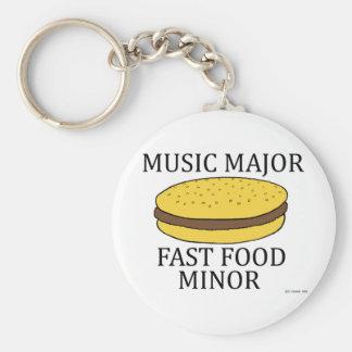 Music Major Basic Round Button Keychain