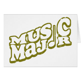 Music Major Bronze Card